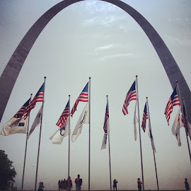 Freedom by Ali Reagan - Buildings & Architecture Statues & Monuments ( arch, american, american flag, gateway arch, monument, st.louis )