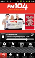 Screenshot of Dublin's FM104