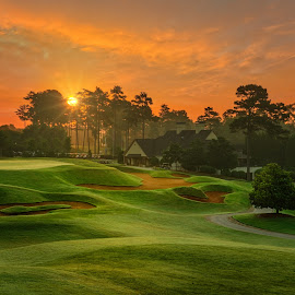 Sunrise at Heritage by Dave Sansom - Sports & Fitness Golf ( 'professional golf course photography', 'private golf club', 'golf course', 'heritage golf links', 'professional golf course photographer', georgia, golf, tucker, usa, 'dave sansom' )