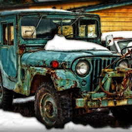 Junkyard Jeep by Stan Lupo - Digital Art Things ( car in snow, hdr, jeep, automobile, digital art, junkyard,  )