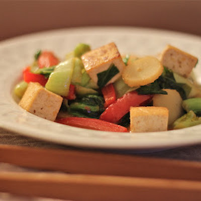 Bok Choy, Red Pepper & Tofu Stir Fry