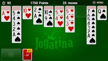 Screenshot of Spider Solitaire Jogatina