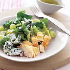 Roast Chicken with Grape and Blue Cheese Salad