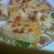 Cherry Angel Food Cake - Homemade