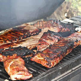 Grilling by Brenda Hooper - Food & Drink Meats & Cheeses ( birthday, aroma, ribs, grill, pork,  )