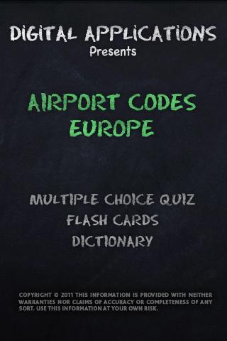 AIRPORT CODES - EUROPE QUIZ