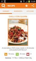 Screenshot of Quorn Vegetarian Recipes