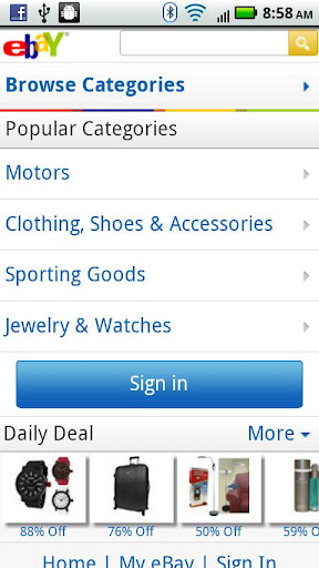 ebay-for-droids for android screenshot