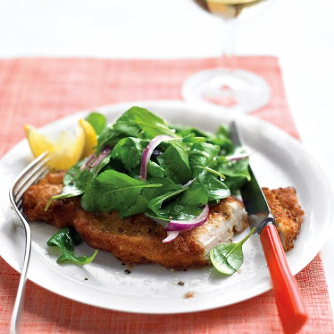 Garlic and Lemon Chicken Milanese with Spring Mix Salad Recipe ...