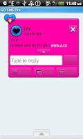 Screenshot of GO SMS THEME/ColorSplatHeart