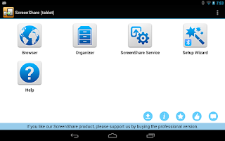 Screenshot of ScreenShare (tablet)