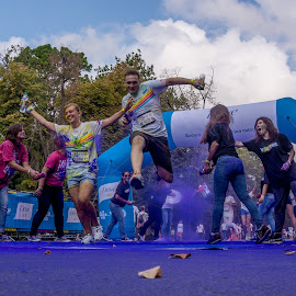 Blue Gate by Tudor Migia - News & Events World Events ( bucharest, color, blue, colorrun, runner, run,  )