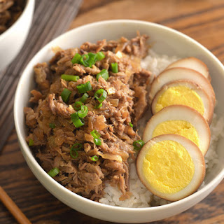Lu Rou Fan (Taiwanese Stwed Pork with Hard-Boiled Eggs)