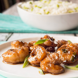 Bourbon-Glazed Shrimp