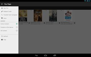 Screenshot of Flux Player