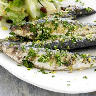 Sardines with Sicilian fennel salad