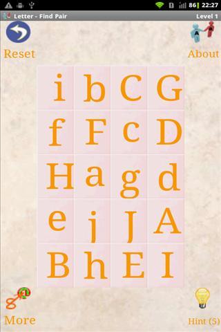 字母 - 配对
