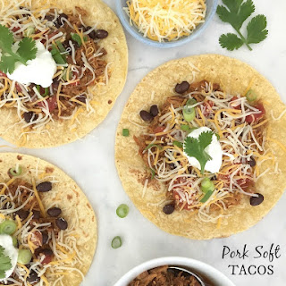 Slow Cooker Pulled Pork {morphs into} Pork Soft Tacos