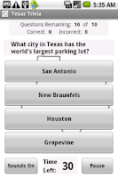 Screenshot of States Trivia - Texas