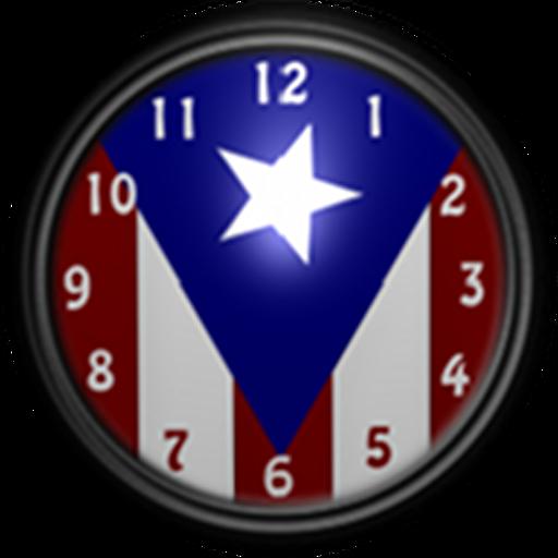 Puerto Rico Flag Clock2 Widget LOGO-APP點子