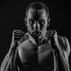 Ready by Brent Lister - Sports & Fitness Boxing ( canada, black and white, fight, low key, boxing,  )