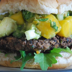 Black Bean Burger with Mango Salsa