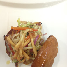 Grilled Miso-Glazed Fish Sandwich with Asian Slaw & Miso Dressing