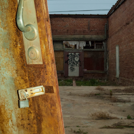 Rusty by Trey Walker - Novices Only Street & Candid ( old, window, door, rust, abandoned )