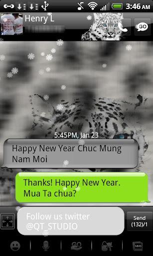 Snow Leopard theme go SMS QT