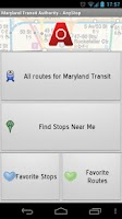Screenshot of MTA Maryland Transit: AnyStop