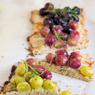 Roasted Grape Flatbread with Rosemary