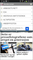 Screenshot of Norwegian newspapers