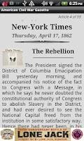 Screenshot of 1861 July Am Civil War Gazette