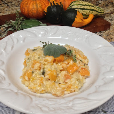 Butternut Squash Risotto with Sage and Thyme