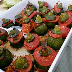 Zucchini Stuffed with Lamb and Mint