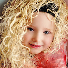Winter Curls Princess by Cheryl Korotky - Babies & Children Child Portraits