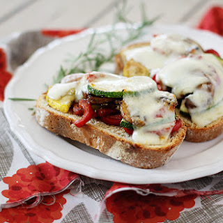 Open Face Roasted Vegetable Sandwiches