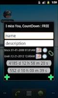Screenshot of I miss You, CountDown : FREE