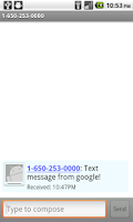 Screenshot of FakeSMS