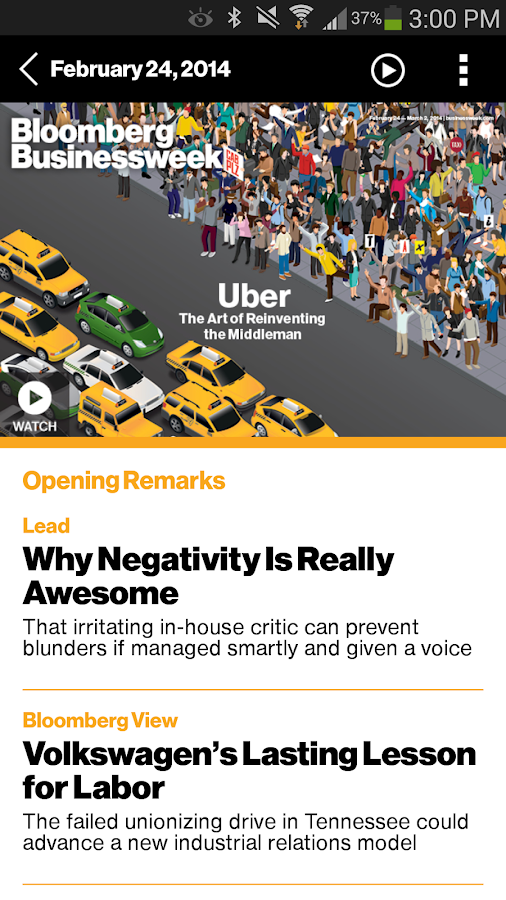 Bloomberg Businessweek+ Screenshot 1