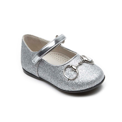 Gucci Silver Glitter Shoe TODDLER GIRL