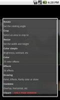 Screenshot of aPic Free Photo Editor