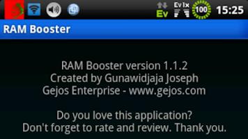 Screenshot of RAM Booster (root)