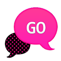GO SMS - Hot Pink Dots icon