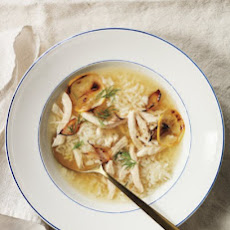 Roast Lemon Chicken and Rice Soup