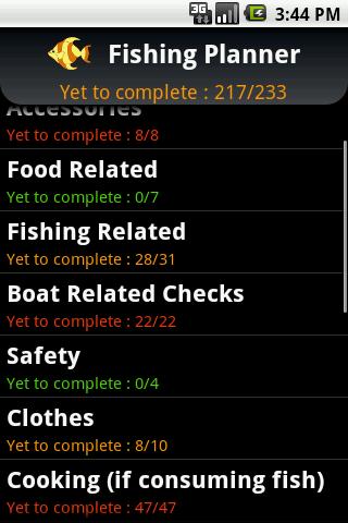 Fishing Trip Planner