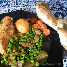 Chicken Tagine With Potatoes and Peas (Morocco -- North Africa)