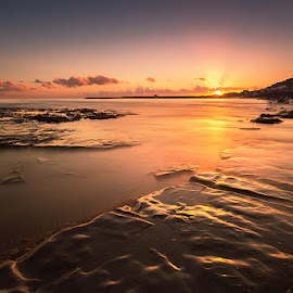 Bleak Mid Winter by Sare Moonfruit - Landscapes Sunsets & Sunrises ( sunset, beach, seascape, landscape )