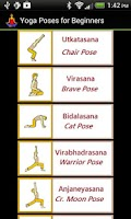 Screenshot of Yoga Poses for Beginners