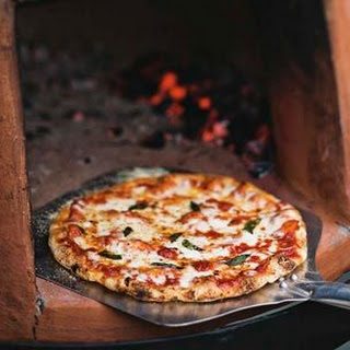 Wood-Fired Pizzas with Salami & Basil